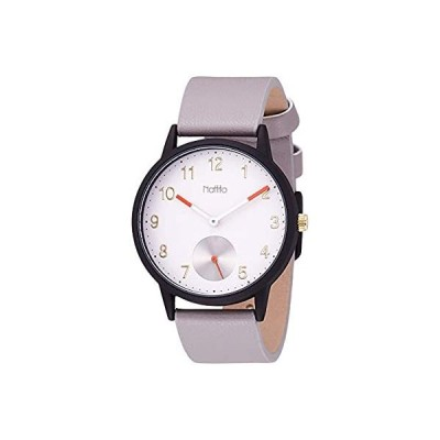 [フィールドワーク] 腕時計 アナログ ルイセコ スモールセコンド 革ベルト 白 文字盤 FSC161-1 レディース グレー