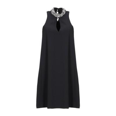 ツインセット シモーナ バルビエリ TWINSET ミニワンピース&ドレス ブラック 38 ポリエステル 95% / ポリウレタン 5% ミニワンピ