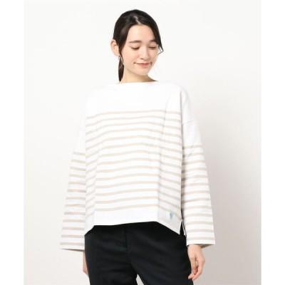 tシャツ Tシャツ 【ORCIVAL】ラッセルフレンチセーラードロップショルダーTシャツ BEIGE WOMEN
