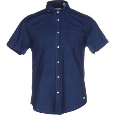 スコッチ&ソーダ SCOTCH & SODA メンズ シャツ トップス solid color shirt Dark blue
