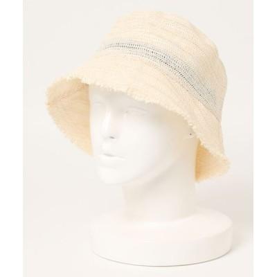 SPINNS / ペーパー素材 フリンジデザインバケットハット WOMEN 帽子 > ハット