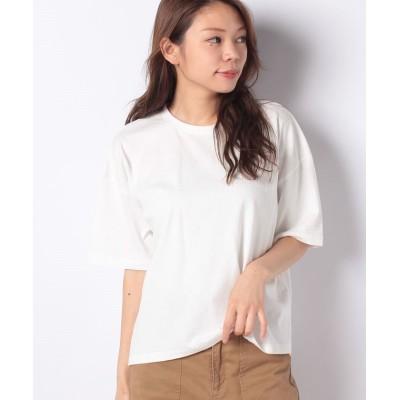 (koe/コエ)オーガニックコットンショート丈Tシャツ/レディース オフホワイト