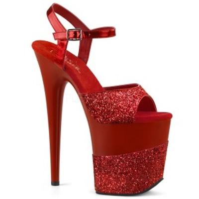 Pleaser FLAMINGO-809-2G 8inch Heel, 4inch PF Ankle Strap Sandal w/ Glitter Wrapped PF◆取り寄せ
