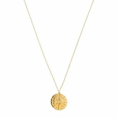 ディーバークレイ ネックレス・チョーカー・ペンダントトップ アクセサリー レディース 14KT Solid Gold Compass Disc Necklace Gold
