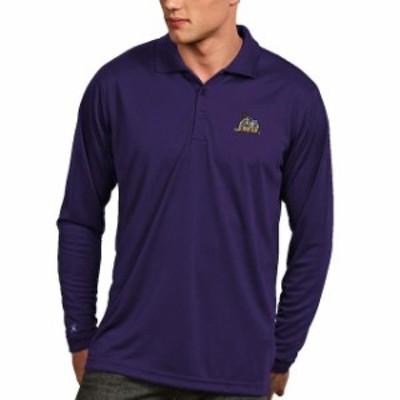 Antigua アンティグア スポーツ用品  Antigua James Madison Dukes Purple Exceed Long Sleeve Polo