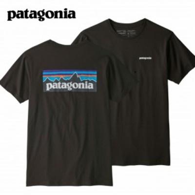 PATAGONIA パタゴニア  メンズ P-6ロゴ オーガニックTシャツ/ブラック P-6 Logo Organic T-Shirt Black