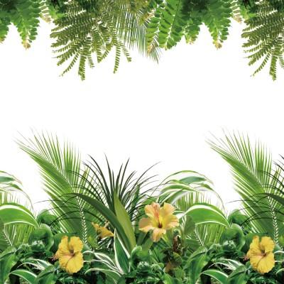 フェイクグリーンの窓飾りシート<90×90cm>