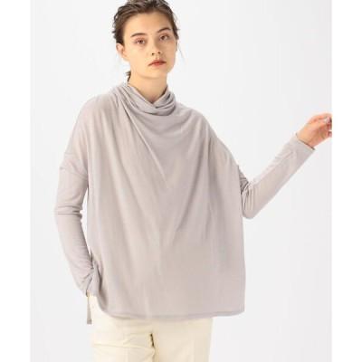 tシャツ Tシャツ ウォッシャブルウール アシンメトリープルオーバー