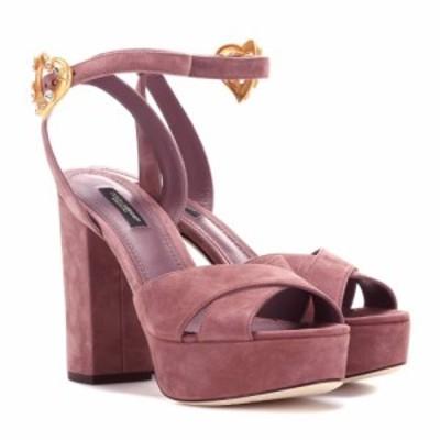 ドルチェandガッバーナ Dolce and Gabbana レディース サンダル・ミュール シューズ・靴 suede plateau sandals Fard