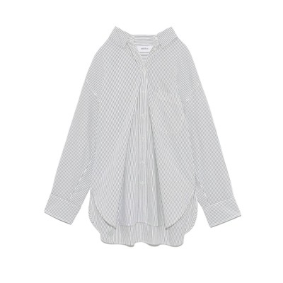 ミラオーウェン Mila Owen 隠し釦ダウンベーシックシャツ (BLK)