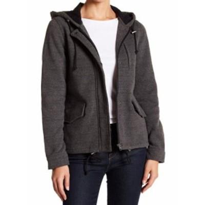 Sebby  ファッション 衣類 Sebby Womens Black Size Medium M Hooded Front Zip Fleece Jacket