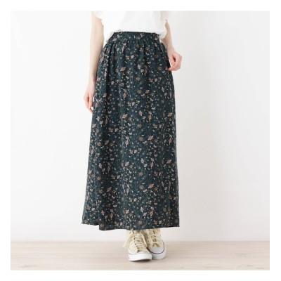 【ピンクアドベ/pink adobe】 ペイズリープリントギャザースカート