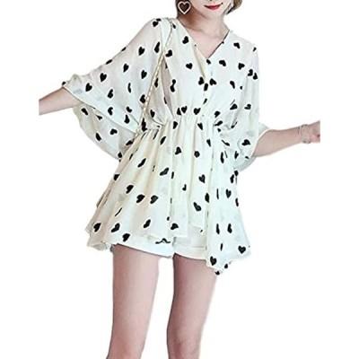 ノギ ティアード チュニック フリル 可愛い レディース ファッション フェミニン トップス st0123(ハート, L)