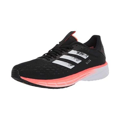 adidas Men's SL20 Running Shoe, Core Black/White/Signal Coral, 11.5