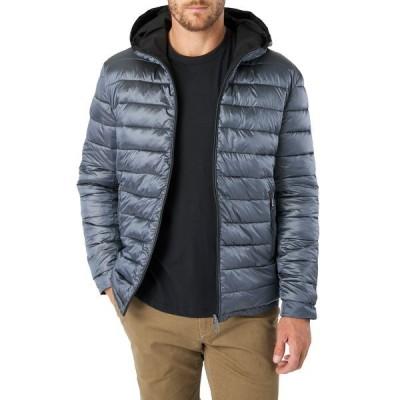 セブンダイヤモンド メンズ ジャケット&ブルゾン アウター Eureka Reversible Hooded Puffer Coat BLACK DK G