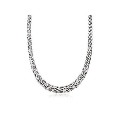 特別価格Ross-Simons Sterling Silver Graduated Wheat-Link Necklace. 18 inches好評販売中