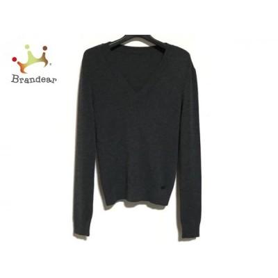 フォクシー FOXEY 長袖セーター サイズ38 M レディース 美品 34515 ダークグレー   スペシャル特価 20200508