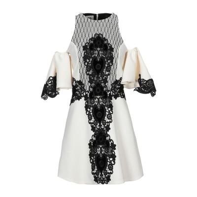 ファウスト プリージ FAUSTO PUGLISI ミニワンピース&ドレス アイボリー 42 バージンウール 100% / レーヨン / ナイロン