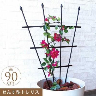 ガーデニング 家庭 菜園 庭 ベランダ 簡単 設置 組立 園芸 お花のアスレチック トレリス 扇子型 高さ90cm