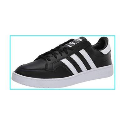 adidas Originals Men's Team Court Sneaker, core Black/FTWR White/Grey one, 10.5 M US