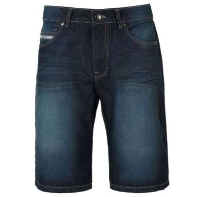 エコー Ecko Unltd メンズ ショートパンツ デニム ボトムス・パンツ Relaxed Denim Short Dark Wash