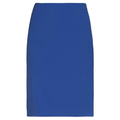 BOUTIQUE MOSCHINO ひざ丈スカート ブライトブルー 44 ポリエステル 90% / ポリウレタン 10% ひざ丈スカート