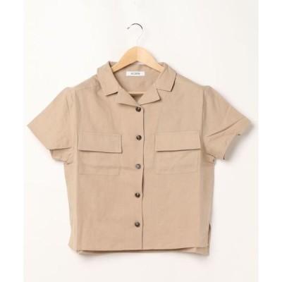 シャツ ブラウス オーバーサイズ前ポケットシャツ *
