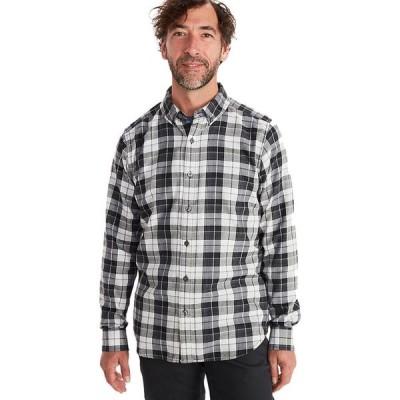 (取寄)マーモット ライトウェイト フランネル ロングスリーブ シャツ - メンズ Marmot Harkins Lightweight Flannel Long-Sleeve Shirt - Men's Black