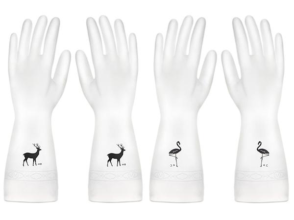 廚房家用防水耐用型薄款手套(1雙入) 款式可選【D011435】