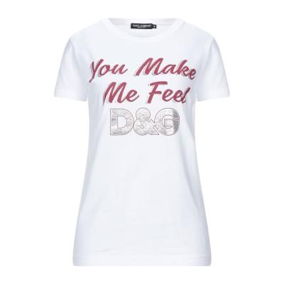ドルチェ & ガッバーナ DOLCE & GABBANA T シャツ ホワイト 40 コットン 100% T シャツ
