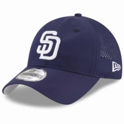 New Era ニュー エラ スポーツ用品  New Era San Diego Padres Navy Perforated Pivot 9TWENTY Adjustable Hat