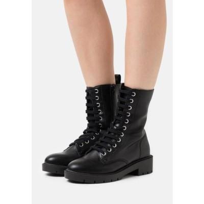 ニュールック レディース 靴 シューズ ELI CLEAN LACE UP - Lace-up ankle boots - black
