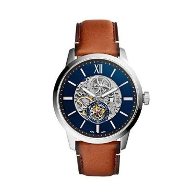 FOSSIL[フォッシル] me3154 TOWNSMAN 48MM AUTOMATIC BROWN LEATHER WATCH 自動巻 ブ