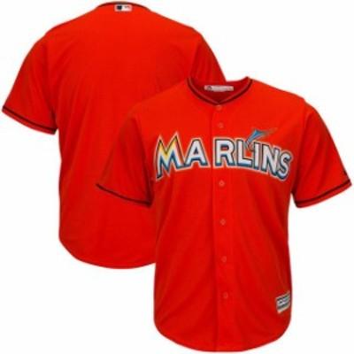 Majestic マジェスティック スポーツ用品  Majestic Miami Marlins Firebrick Official Cool Base Jersey