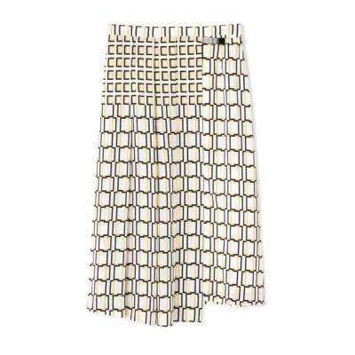 BOSCH/ボッシュ スクエアプリントスカート ホワイト1 38