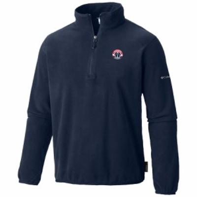 """メンズ ジャケット """"Washington Wizards"""" Columbia Ridge Repeat Half-Zip Fleece Jacket - Navy"""
