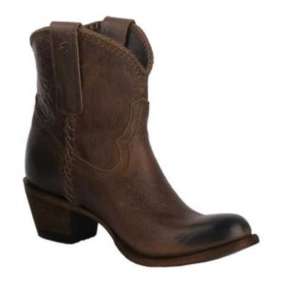 レーンブーツ レディース ブーツ&レインブーツ シューズ Plain Jane Shortie Ankle Boot Cognac Oiled Full Grain Leather