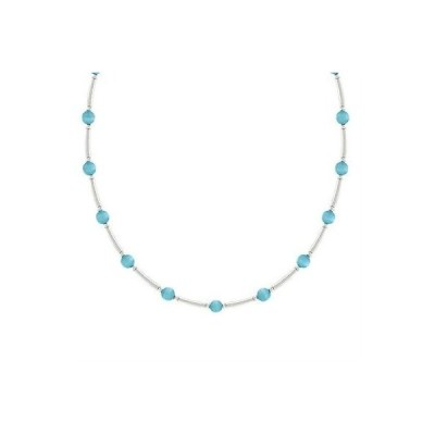 SilverSpeck ジュエリーセット シルバー .925 glass 4ミリ ブルー キャッツアイ Bead & Bar ネックレス