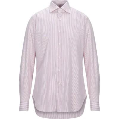 アレッサンドロ ゲラルディ ALESSANDRO GHERARDI メンズ シャツ トップス Striped Shirt Red