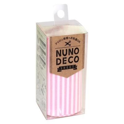 KAWAGUCHI(カワグチ) 手芸用品 NUNO DECO ヌノデコシート ももいろたてじま 15-250 キャンセル返品不可 【出荷グループ A】他の商品と同梱制限有