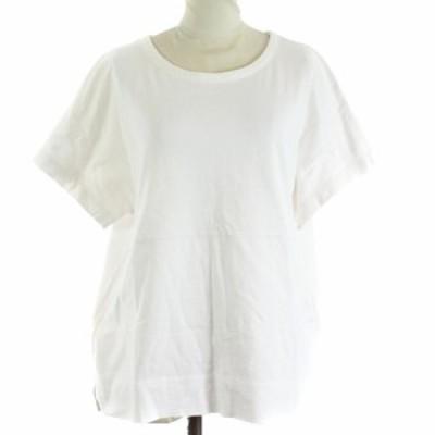 【中古】プリーツプリーズ PLEATS PLEASE Tシャツ カットソー 半袖 F 白 ホワイト /SR レディース