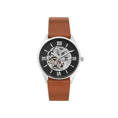 Skagen Men's Holst Quartz Analog Stainless Steel and Leather Watch, Color:  並行輸入品