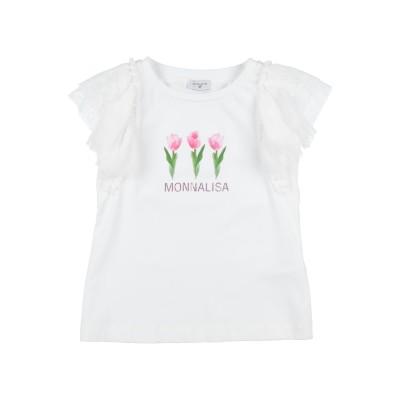 モナリザ MONNALISA T シャツ ホワイト 10 コットン 95% / ポリウレタン 5% / ナイロン T シャツ