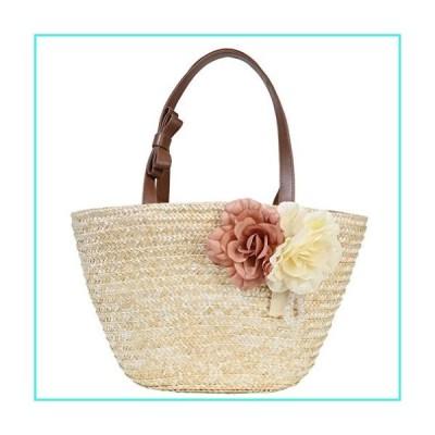 【新品】Sumerk Eco Friendly Straw beach bag Handbags Shoulder Tote Bags for women(並行輸入品)