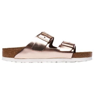 ビルケンシュトック Birkenstock レディース サンダル・ミュール シューズ・靴 Arizona Cork Sandals Metallic Copper/Gold