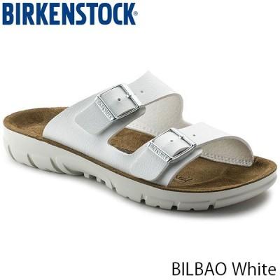 ビルケンシュトック レディース サンダル ビルバオ BILBAO コンフォート ストラップ 幅狭 ナロー ホワイト 白 BIRKENSTOCK GP520783 国内正規品