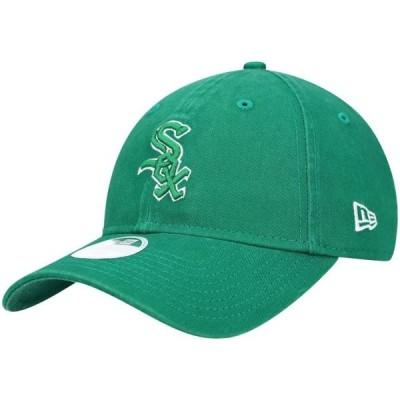 レディース スポーツリーグ メジャーリーグ Chicago White Sox New Era Women's St. Patrick's Core Classic 9TWENTY Adjustable Hat - Gre