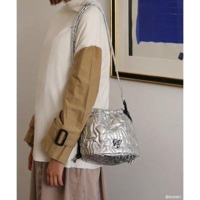 ショルダーバッグ バッグ ミニーマウス/リボンキルティング巾着バッグ