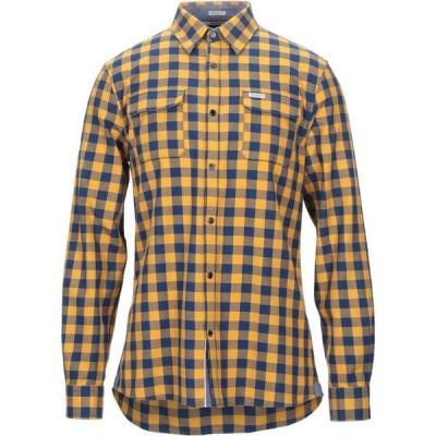 ゲス GUESS メンズ シャツ トップス Checked Shirt Yellow