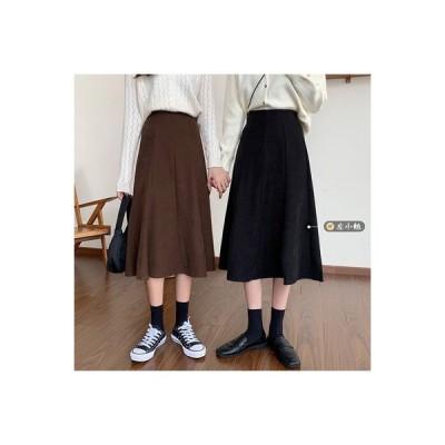 【送料無料】左 小 到来 ~ 秋 ミディ丈 ハイウエスト 着やせ スカート | 364331_A63906-9405902